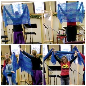 Advent rehearsal dance scarves