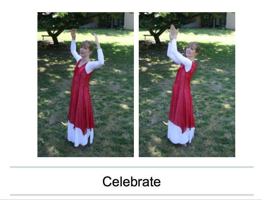 celebrate dance postures