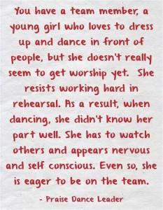 performance vs worship