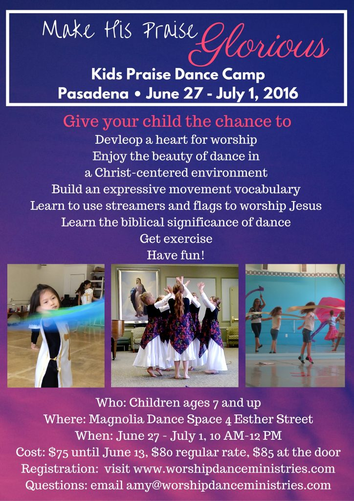 kids praise dance camp pasadena