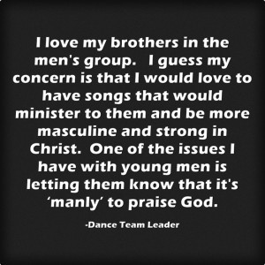 men in praise dance