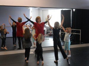 Worship Dance Class at a local studio.