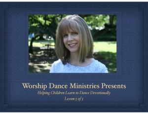 children worship dance teaching