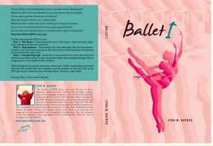ballet for worship DVD