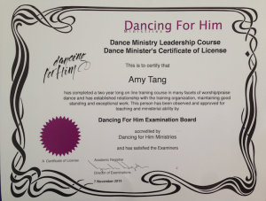 dance ministry license