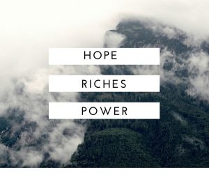 hope riches power of God