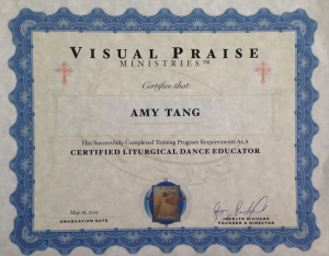 liturgical dance certification