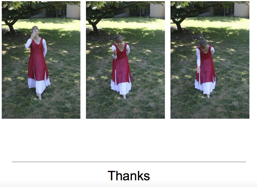 thanks dance postures