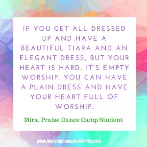 praise dance camp worship